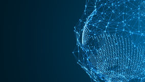 Γη από τα μόρια με μια αφηρημένη σύνδεση Μια σύνδεση ψηφιακών δικτύων απεικόνιση αποθεμάτων