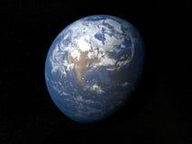 Γη από τις διαστημικές ΗΠΑ με τα σύννεφα Στοκ εικόνα με δικαίωμα ελεύθερης χρήσης
