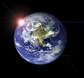 Γη από το διάστημα Στοκ Εικόνες