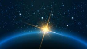 Γη - η διανυσματική απεικόνιση παρουσιάζει τους πλανήτες του ηλιακού συστήματος Στοκ Φωτογραφία