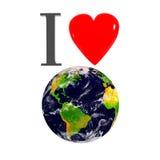 γη ι αγάπη Διανυσματική απεικόνιση
