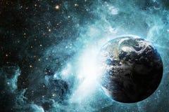Γη και διάστημα Στοκ φωτογραφία με δικαίωμα ελεύθερης χρήσης