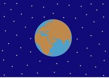γη και ο έναστρος ουρανός Στοκ φωτογραφία με δικαίωμα ελεύθερης χρήσης