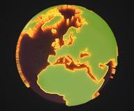 Γη κινούμενων σχεδίων Στοκ Φωτογραφία