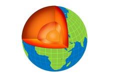 γη μέσα διανυσματική απεικόνιση