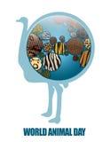 Γη με τις ζωικές συστάσεις ελεύθερη απεικόνιση δικαιώματος