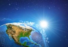 γη πέρα από την ανατολή στοκ εικόνες με δικαίωμα ελεύθερης χρήσης