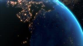 γη πέρα από την ανατολή διανυσματική απεικόνιση