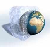 γη παγωμένη διανυσματική απεικόνιση