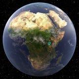 Γη που στρέφεται στην Αφρική Στοκ Εικόνα