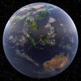 Γη που στρέφεται στη Νοτιοανατολική Ασία Στοκ Εικόνα