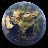 Γη που στρέφεται στη Νότια Ασία Στοκ φωτογραφία με δικαίωμα ελεύθερης χρήσης