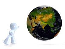 γη που φαίνεται έξω πλανήτη&s Διανυσματική απεικόνιση