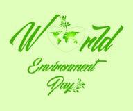 Γη σε μια όμορφη καρδιά που γίνεται από μια πράσινη περίληψη Απεικόνιση αποθεμάτων