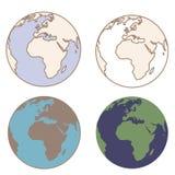Γη στα εκλεκτής ποιότητας χρώματα Στοκ Εικόνες