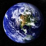 Γη στο διάστημα Στοκ φωτογραφία με δικαίωμα ελεύθερης χρήσης
