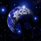 Γη στο διάστημα Στοκ εικόνες με δικαίωμα ελεύθερης χρήσης