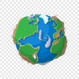 Γη στο ύφος κινούμενων σχεδίων απεικόνιση αποθεμάτων
