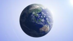 Γη 7 τηλεοπτικός βρόχος υποβάθρου γήινων σφαιρών του //1080p διανυσματική απεικόνιση
