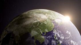 Γη 6 του //1080p περιστρεφόμενος βρόχος υποβάθρου σφαιρών τηλεοπτικός απεικόνιση αποθεμάτων