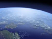 Γη, όψη από το διάστημα διανυσματική απεικόνιση