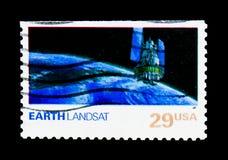Γη, Landsat, ζήτημα εξερεύνησης του διαστήματος serie, circa 1991 Στοκ εικόνες με δικαίωμα ελεύθερης χρήσης