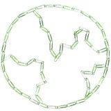 γη paperclips Στοκ φωτογραφίες με δικαίωμα ελεύθερης χρήσης