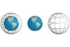 γη wireframe Απεικόνιση αποθεμάτων