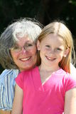 γιαγιά εγγονών στοκ εικόνες