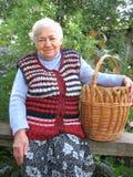 γιαγιά καλαθιών Στοκ Εικόνες