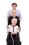 Γιαγιά με τα εγγόνια στοκ εικόνα