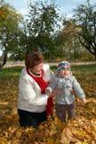 γιαγιά μωρών ευτυχής Στοκ Εικόνες