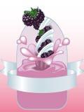 γιαούρτι βατόμουρων απεικόνιση αποθεμάτων