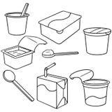 γιαούρτι γάλακτος Στοκ εικόνα με δικαίωμα ελεύθερης χρήσης