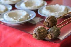 Γιαούρτι παπαρουνών και κρέμας ένα τουρκικό επιδόρπιο Στοκ εικόνες με δικαίωμα ελεύθερης χρήσης