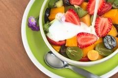 γιαούρτι σαλάτας καρπού Στοκ εικόνα με δικαίωμα ελεύθερης χρήσης