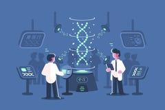 Γιατροί γενετικής που ερευνούν το DNA στο εργαστήριο απεικόνιση αποθεμάτων