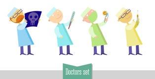 Γιατροί καθορισμένοι Στοκ Εικόνες
