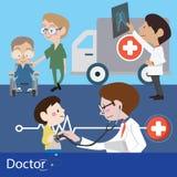 Γιατροί και προσωπικό Στοκ Εικόνες