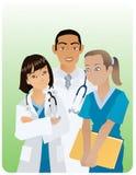γιατροί τρία Στοκ Εικόνες