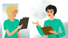 γιατροί δύο γυναίκες Στοκ Εικόνες