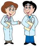 γιατροί δύο κινούμενων σχ&ep Στοκ Εικόνα