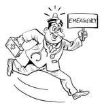 Γιατρός έκτακτης ανάγκης διανυσματική απεικόνιση