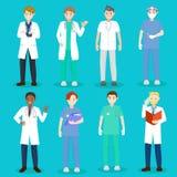 Γιατρός και νοσοκόμα κινούμενων σχεδίων διανυσματική απεικόνιση