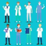 Γιατρός και νοσοκόμα κινούμενων σχεδίων ελεύθερη απεικόνιση δικαιώματος