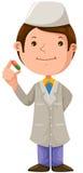 γιατρός κινούμενων σχεδίων ιατρικός διανυσματική απεικόνιση