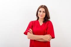 Γιατρός/νοσοκόμα θηλυκών Στοκ φωτογραφία με δικαίωμα ελεύθερης χρήσης
