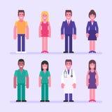 Γιατρός νοσοκόμων επιχειρηματιών επιχειρηματιών κοριτσιών τύπων Χαρακτήρας - σύνολο απεικόνιση αποθεμάτων
