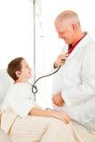 γιατρός παιδιών φιλικός στοκ εικόνες