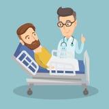 Γιατρός που επισκέπτεται την υπομονετική διανυσματική απεικόνιση απεικόνιση αποθεμάτων